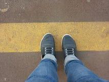 Καθίστε στη γραμμή Στοκ φωτογραφία με δικαίωμα ελεύθερης χρήσης