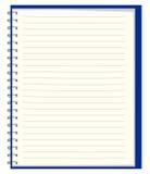 καθαρά αρχεία σημειωματάρ Στοκ εικόνα με δικαίωμα ελεύθερης χρήσης