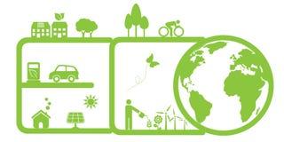 Καθαρά περιβάλλον και eco Στοκ Εικόνες