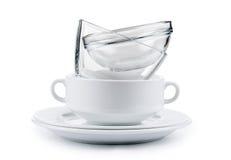καθαρά πιάτα Στοκ εικόνες με δικαίωμα ελεύθερης χρήσης