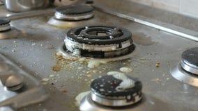 Καθαρές βρώμικες σομπών μικροδουλειές κουζινών ψεκασμού κουζινών καθαριστικές φιλμ μικρού μήκους