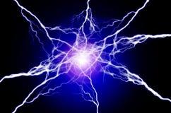 Καθαρές ενέργεια και ηλεκτρική ενέργεια που συμβολίζουν τη δύναμη Στοκ εικόνα με δικαίωμα ελεύθερης χρήσης