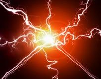 Καθαρές ενέργεια και ηλεκτρική ενέργεια που συμβολίζουν τη δύναμη Στοκ Φωτογραφία