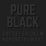 Καθαρές μαύρες επιστολές αλφάβητου Στοκ Φωτογραφία