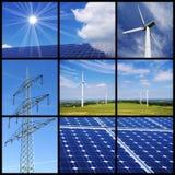 καθαρή ενέργεια κολάζ Στοκ Φωτογραφίες
