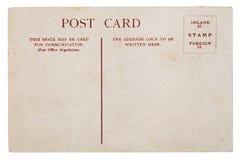 Καθαρή εξασθενισμένη, κουρελιασμένη εκλεκτής ποιότητας κάρτα Στοκ Φωτογραφία