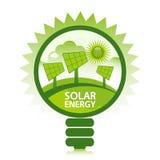 Καθαρή ηλιακή ενέργεια Στοκ Εικόνες