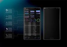 Καθαρή κινητή έννοια σχεδίου UI Καθιερώνουσες τη μόδα κινητές τραπεζικές εργασίες Τεχνολογία Cryptocurrency Ανταλλαγή Bitcoin Οικ ελεύθερη απεικόνιση δικαιώματος