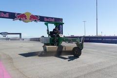 Καθαρή μηχανή ασφάλτου, κατά τη διάρκεια του Red Bull σφαιρικό Rallycross Στοκ Εικόνα
