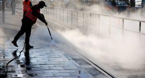 καθαρίζοντας ατμός Στοκ Εικόνες