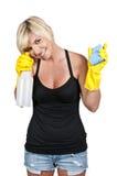 καθαρίζοντας γυναίκα σπ&i Στοκ φωτογραφίες με δικαίωμα ελεύθερης χρήσης