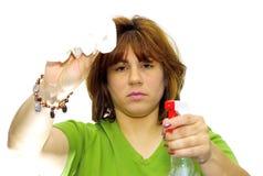καθαρίζοντας γυναίκα Στοκ εικόνες με δικαίωμα ελεύθερης χρήσης