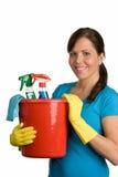 καθαρίζοντας γυναίκα Στοκ Φωτογραφίες