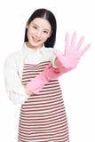 Καθαρίζοντας γυναίκα Στοκ εικόνα με δικαίωμα ελεύθερης χρήσης