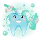 καθαρίζοντας δόντια Στοκ εικόνα με δικαίωμα ελεύθερης χρήσης