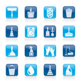 καθαρίζοντας εικονίδια υγιεινής Στοκ φωτογραφίες με δικαίωμα ελεύθερης χρήσης