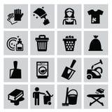 Καθαρίζοντας εικονίδια Στοκ φωτογραφία με δικαίωμα ελεύθερης χρήσης