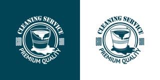 Καθαρίζοντας διανυσματικά εκλεκτής ποιότητας λογότυπα υπηρεσιών απεικόνιση αποθεμάτων
