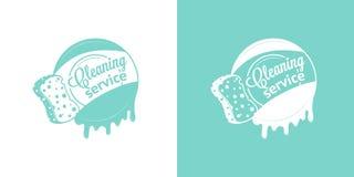 Καθαρίζοντας διανυσματικά εκλεκτής ποιότητας λογότυπα υπηρεσιών διανυσματική απεικόνιση