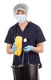 καθαρίζοντας ιατρικό προσωπικό Στοκ Εικόνες
