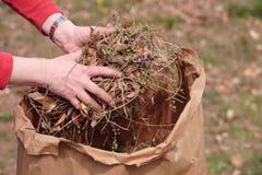 καθαρίζοντας κήπος Στοκ φωτογραφίες με δικαίωμα ελεύθερης χρήσης