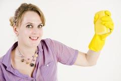 καθαρίζοντας κορίτσι επά& Στοκ Εικόνες