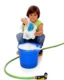 καθαρίζοντας κορίτσι Στοκ εικόνα με δικαίωμα ελεύθερης χρήσης
