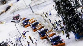 Καθαρίζοντας μηχανή για να κάνει το χιόνι Στοκ φωτογραφίες με δικαίωμα ελεύθερης χρήσης