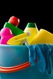 καθαρίζοντας προμήθειε&s Στοκ εικόνα με δικαίωμα ελεύθερης χρήσης
