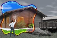 καθαρίζοντας σπίτι μαγικό στοκ εικόνα με δικαίωμα ελεύθερης χρήσης