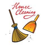 καθαρίζοντας σπίτι ελεύθερη απεικόνιση δικαιώματος