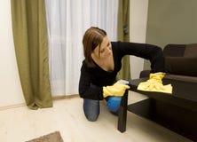 καθαρίζοντας σπίτι Στοκ φωτογραφίες με δικαίωμα ελεύθερης χρήσης
