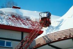 καθαρίζοντας στέγη Στοκ φωτογραφίες με δικαίωμα ελεύθερης χρήσης