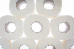 καθαρίζοντας τουαλέτα προϊόντων εγγράφου βασικής υγιεινής Στοκ Εικόνες