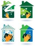 Καθαρίζοντας υπηρεσία σπιτιών απεικόνιση αποθεμάτων