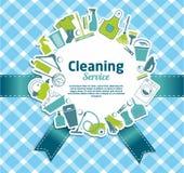 καθαρίζοντας υπηρεσία Στοκ Φωτογραφία