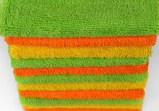 Καθαρίζοντας υφάσματα, πετσέτες χρώματος Στοκ φωτογραφίες με δικαίωμα ελεύθερης χρήσης
