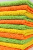 Καθαρίζοντας υφάσματα, πετσέτες χρώματος Στοκ Εικόνες