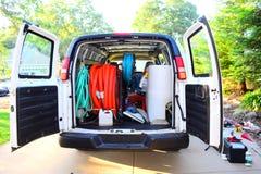 Καθαρίζοντας φορτηγό ταπήτων στοκ εικόνες