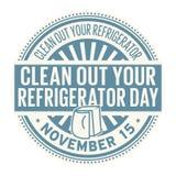 Καθαρίστε έξω την ημέρα ψυγείων σας διανυσματική απεικόνιση