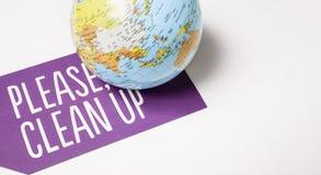Καθαρίστε επάνω τον κόσμο - οικολογική έννοια στοκ εικόνες με δικαίωμα ελεύθερης χρήσης
