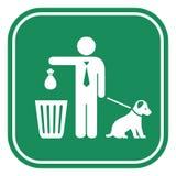 Καθαρίστε μετά από το σημάδι σκυλιών σας διανυσματική απεικόνιση