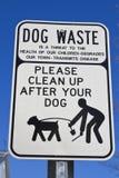 Καθαρίστε μετά από το σκυλί σας Στοκ εικόνες με δικαίωμα ελεύθερης χρήσης