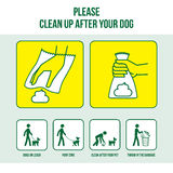 Καθαρίστε μετά από το σκυλί σας διανυσματική απεικόνιση