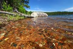καθαρίστε τα ύδατα Wisconsin northwoods Στοκ Εικόνες