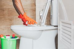 Καθαρίστε την τουαλέτα στοκ φωτογραφία με δικαίωμα ελεύθερης χρήσης