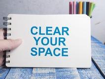 Καθαρίστε τη διαστημική, κινητήρια έννοια αποσπασμάτων λέξεών σας στοκ φωτογραφίες με δικαίωμα ελεύθερης χρήσης