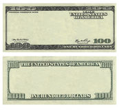 Καθαρίστε το σχέδιο τραπεζογραμματίων δολαρίων 100 ΗΠΑ Στοκ Εικόνες