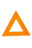 καθαρίστε το τρίγωνο σημ&al στοκ εικόνες