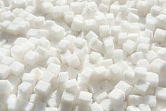 Καθαρισμένοι κύβοι ζάχαρης Στοκ εικόνα με δικαίωμα ελεύθερης χρήσης